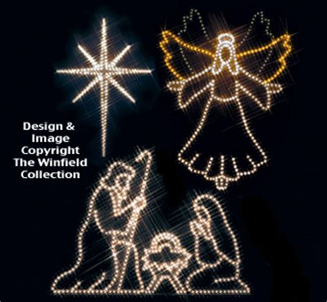 lighted christmas angel star nativity nite lite