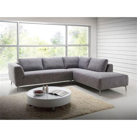 canap d angle tissu design canapé d 39 angle côté droit design 5 places avec méridienne