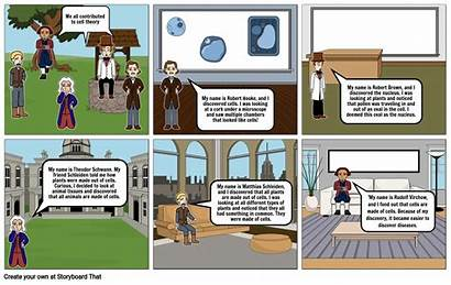 Comic Cell Strip Theory Storyboard