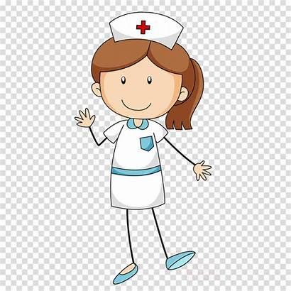 Nurse Cartoon Transparent Clipart Female Child Clip