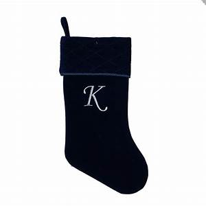 trim a homer 20quot velvet letter k monogrammed stocking With letter k christmas stockings