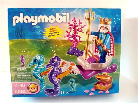 Playmobil 5885 King Neptune Seahorses Chariot Merman New In Box 31 …