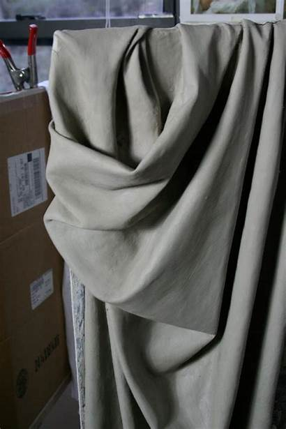 Drapery Study Clay Drawing Fabric Sculpture Reference