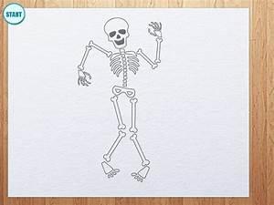 How to draw skeleton - YouTube
