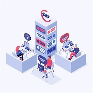 Customer Service Stock Illustration  Illustration Of Blue