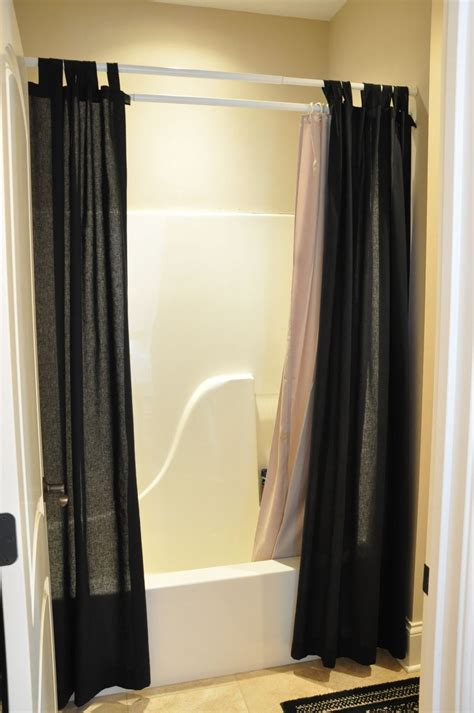 gorgeous black shower curtain design ideas  simply