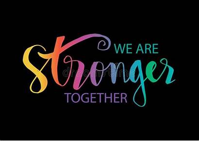 Together Stronger Quote Motivational Clipart Mott Hall