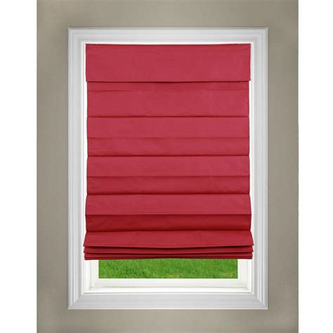 who sells l shades perfect lift window treatment red cordless fabric roman