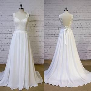 fashion romantic beach wedding dress 2016 v neck lace With romantic beach wedding dresses