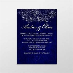 custom personalized digital wedding invitation formal With free printable wedding invitations royal blue