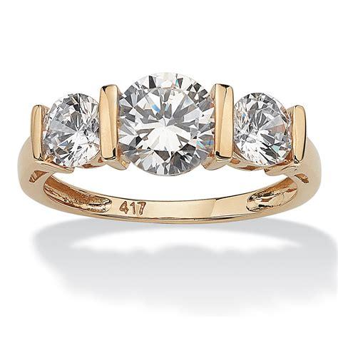 cubic zirconia  stone bridal engagement ring