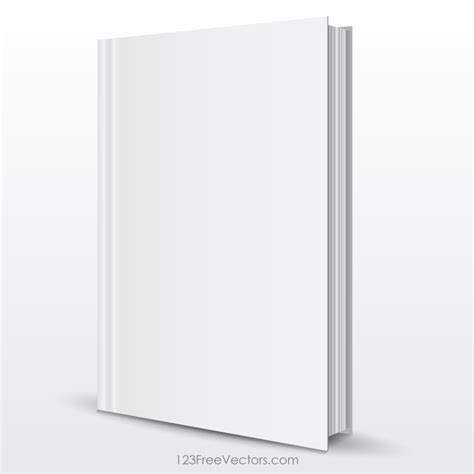 Blank Book Cover Template 123freevectors