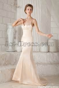 simple spaghetti wedding dress chagne plunge simple bridal gowns with spaghetti straps 1st dress