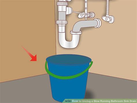 unclog a slow draining sink 4 ways to unclog a slow running bathroom sink drain wikihow