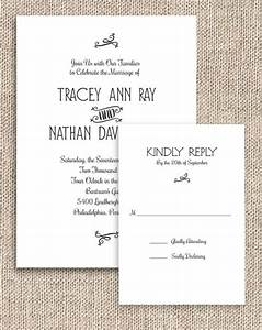 Printable rustic chic invitation and rsvp set digital for Digital wedding invitations with rsvp