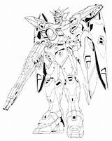 Gundam Wing Zero Lineart Coloring Drawing Xxxg 00w0 Suit Mobile Exia Colouring Sketch Destiny Seed Wiki Template Wikia Getdrawings sketch template