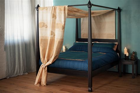 Raj Colonial Style Four Poster Bed Natural Bed Company