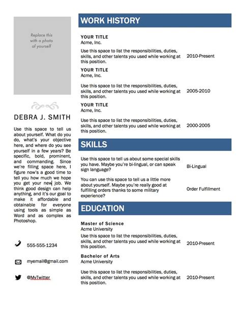 Free Actor Resume by 25 Best Ideas About Free Resume Templates Word On