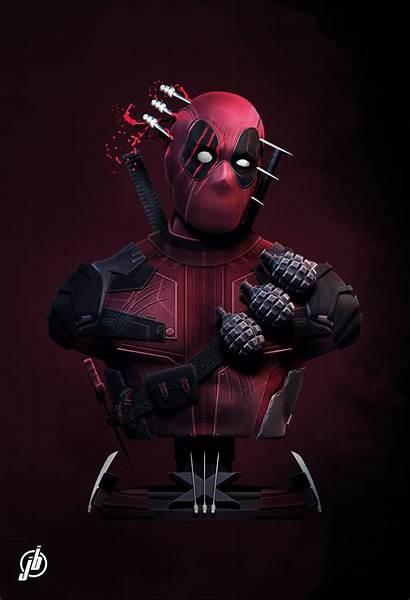 Deadpool Fanart Artstation Quinn Harley Marvel