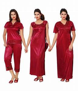Buy Boosah Satin Nighty & Night Gowns Online at Best ...