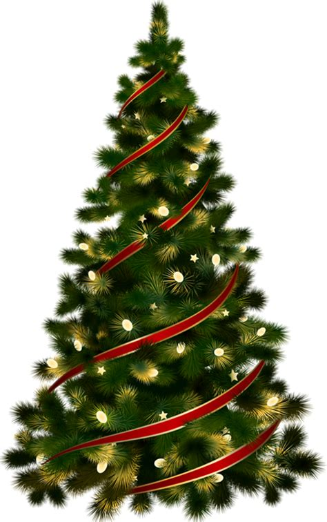 funny transparent christmas tree clipart  image