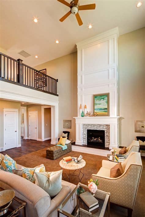 2 Story Great Room Family Room Traditional With Tile