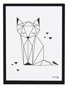 Tischläufer Schwarz Weiß : lilipinso kinderzimmerbild 39 origami fuchs 39 schwarz wei 30x40cm bei fantasyroom online kaufen ~ Frokenaadalensverden.com Haus und Dekorationen