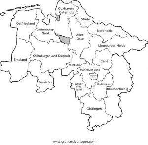 niedersachsen gratis malvorlage  geografie landkarten