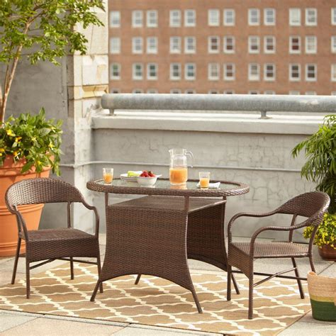 hton bay youngstown 3 all weather wicker patio