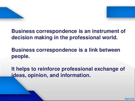 Writing Effective Business Correspondence