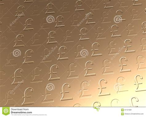 Sterling Background Golden Pound Sterling Currency Background Stock Photo