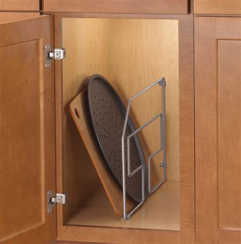 12 Inch Cabinet Tray Divider  Nickel In Cookware Storage