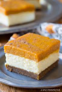 Healthy Pumpkin Dessert Bars by Layered Pumpkin Cheesecake Bars A Spicy Perspective