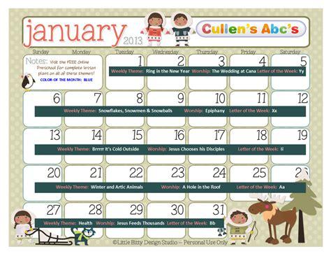 preschool calendars christian children activities 219 | January Calendar 1024x791