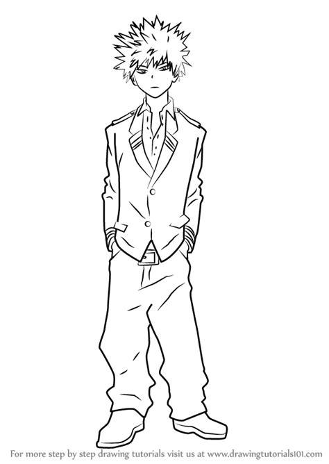 learn   draw katsuki bakugo  boku  hero