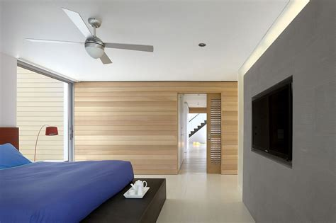 bedroom wooden walls beach walk house fire island