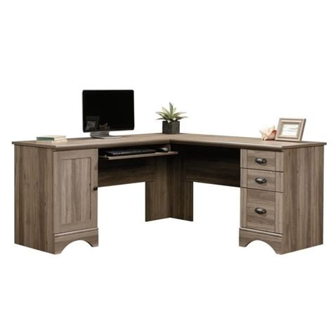 l shaped oak computer desk l shaped computer desk in salt oak 417586