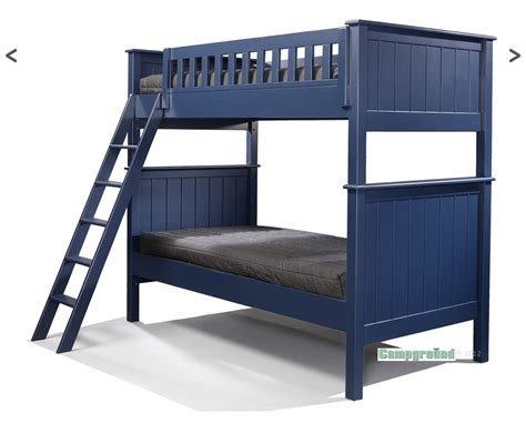bunk beds cground collection bunk bed in navy blue