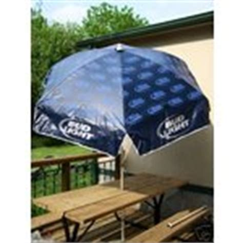 bud light umbrella brand new in box with extension pole