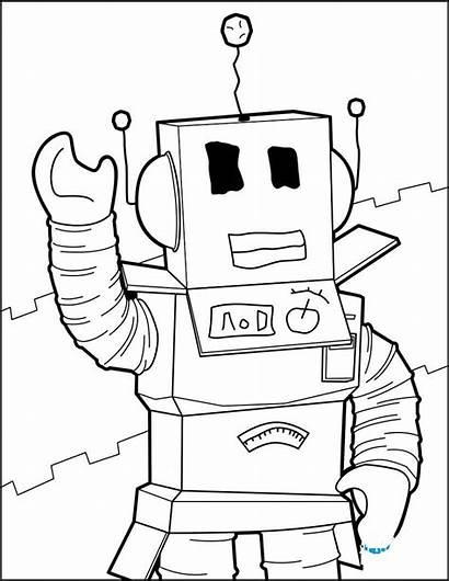 Roblox Coloring Noob Pages Printable Rysunki Robot