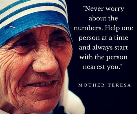 mother teresa quote  worry   numbers