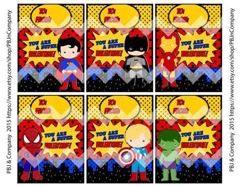 super hero avengers printable valentines day