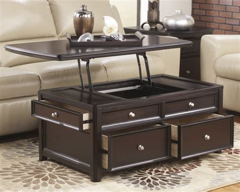 carlyle  black lift top cocktail table