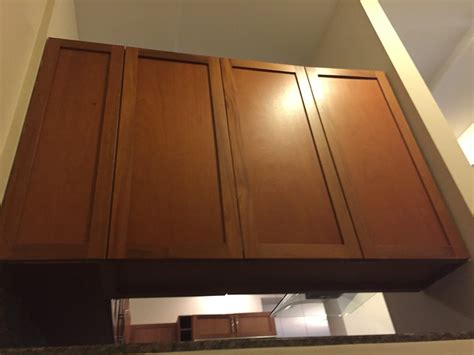 kitchen microwave cabinets shaker glass brown wood kitchen cabinets thermador 2300