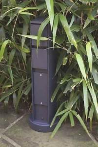 Gartensteckdose Mit Schalter : steckdosens ule mit 2 steckdosen grafit schwarz von bega ~ Eleganceandgraceweddings.com Haus und Dekorationen