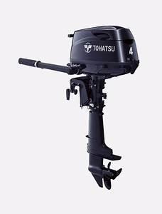 Tohatsu Motor Mfs4cds  4 Hp  15 In Shaft  Manual Start