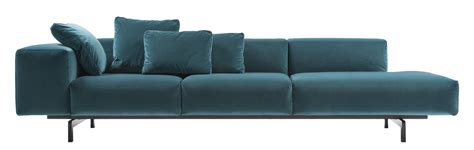 canapé 120 cm largo velluto sofa 3 seaters l 298 cm left
