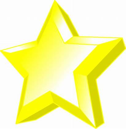 Clip Star 3d Shining Clipart Vector Glowing