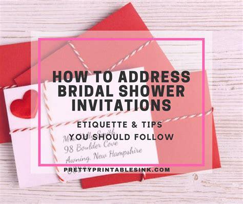 address bridal shower invitations pretty