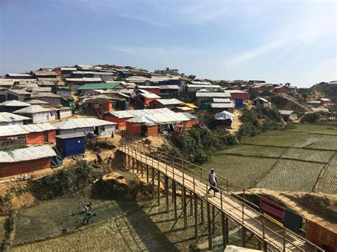 monsoon floods and landslides threaten 100 000 rohingya